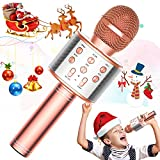 TRONICMASTER Wireless Karaoke Microphone Bluetooth, 3 in 1 Wireless Portable Handheld Mic Karaoke Machine for Christmas Home Birthday Party, Voice Disguiser Karaoke Microphone for Kids