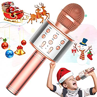 Amazon - Save 48%: TRONICMASTER Wireless Karaoke Microphone Bluetooth, 3 in 1 Wireless…