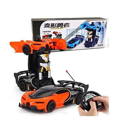 BJYG RC-Auto, 4x4 Crawler Kinder Fernbedienung Mini-Auto Spielzeug, Junge RC Transformers Drift Racing Sportwagen, kabelloses Laden Hochgeschwindigkeits-Elektroauto-Modell, Deformation