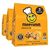 FreeYumm Chocolate Chip Soft Baked Bars - 15 Individually Wrapped Bars - Allergen Free - Gluten Free - School Friendly