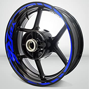 Gloss Blue Motorcycle Rim Wheel Decal Accessory Sticker for Yamaha YZF R6