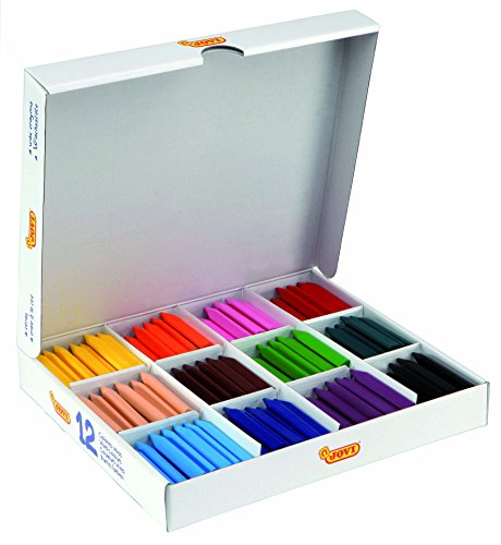 Jovi Triwax Triangular Crayons, Smooth Coloring with Intense Color Premium Pigments, Classroom Pack of 300 (25 Each of 12 Colors), Multicolor, Set of 300