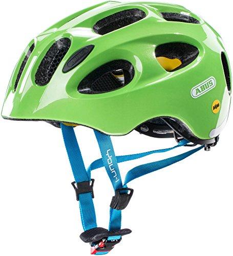 ABUS Youn-I MIPS Kinderhelm - Fahrradhelm für Kinder - für Mädchen und Jungen - 38813 - Grün (funkelnd), Größe S