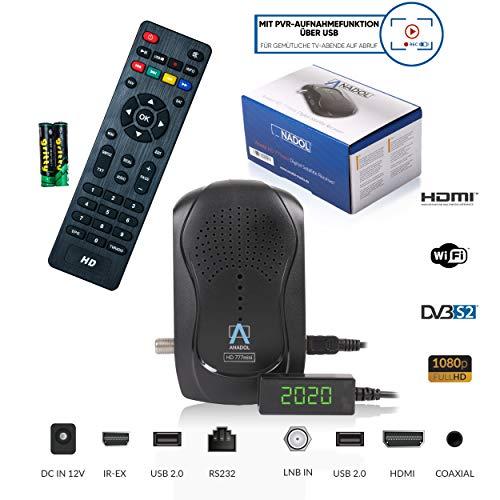 Preisvergleich Produktbild Anadol HD 777 1080p HDTV digitaler Mini Sat Receiver - energiesparender Full HD Minireceiver mit PVR Aufnahmefunktion Timeshift - Minisatreceiver mit vorinstallierten Astra Sendern - 12V Camping