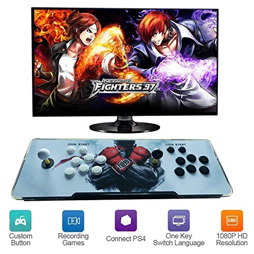 Hplights Arcade Game Console 3D Pandora's Box TV-Spielekonsolen Videoautomat Classic, 720x1080 Full HD Multiplayer Home Arcade Konsole, 4000 Spiele All in 1 Double Stick Buttons Power HDMI, ZX-01
