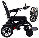 ComfyGO Electric Power Wheelchair Scooter Fold & Travel Lightweight Folding Safe Electric Wheelchair Motorized Aviation Travel Heavy Duty Power Wheelchair (Black)
