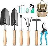 mosfiata set di attrezzi da giardino set di utensili manuali da 12 pezzi in acciaio al carbonio