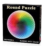 Coogam 1000 Piezas Redondo Puzzle Creativo Arco Iris Difícil...