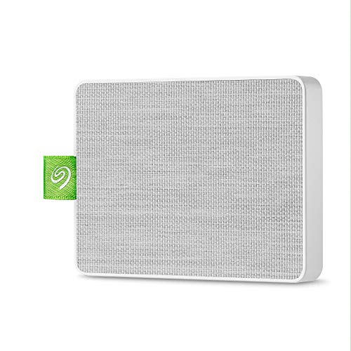 Seagate Ultra Touch SSD, tragbare externe SSD, 500 GB, 2.5 Zoll, USB 3.0, PC & Mac, weiß, inkl. 3 Jahre Rescue Service, Modellnr.: STJW500400