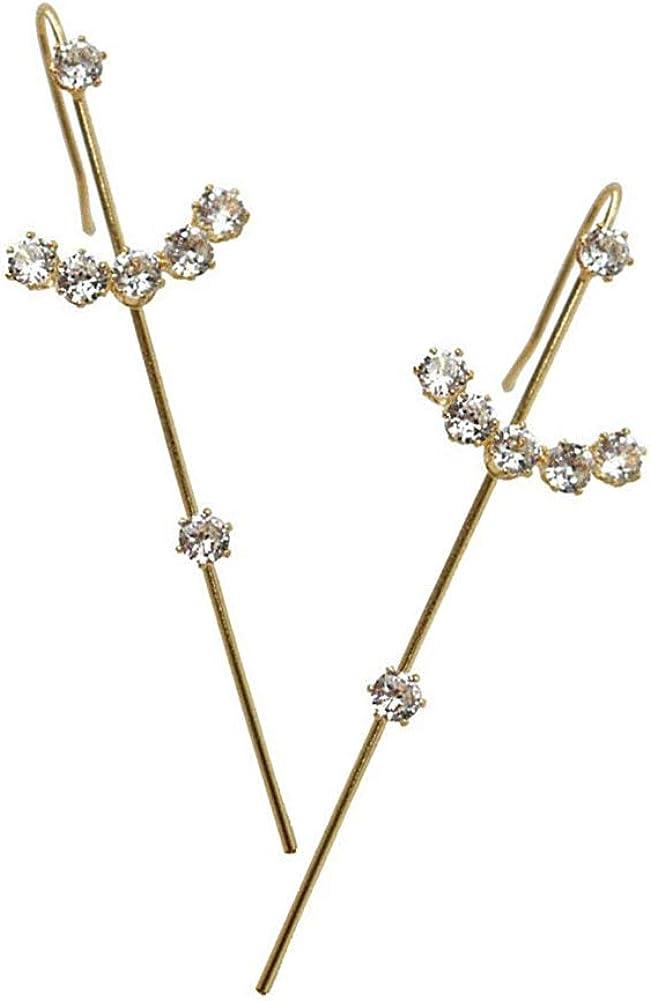 2 Pcs Ear Wrap Crawler Hook Earrings, Sash Ear Needles Around The Auricle Clip Jewelry