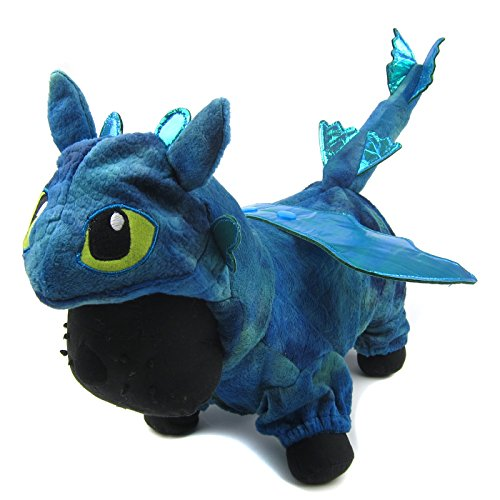Alfie Pet - Night Fury Dragon Costume - Color: Blue, Size: XS