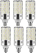 Best to Buy 6 Pack E17 LED Bulbs, 12W Candelabra Bulb 100 Watt Equivalent, 1200lm, Decorative Candle Base E11 Non-Dimmable LED Chandelier Bulbs, Daylight White 6000K LED Lamp (Daylight White 6000K)