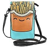 Liliylove Portamonete con faccine e patatine fritte, leggero, a tracolla, per donne e ragazze, con pratico trasporto