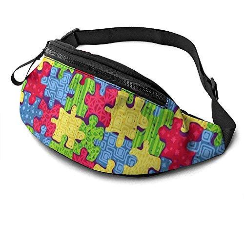 Jrey.T Puzzles Runner's Fanny Bag Waist Pack Sangles Réglables Poche avec Prise Casque pour Unisexe