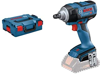 Bosch Professional 06019D8201 18V System Cordless Impact Wrench GDS 18V-300 (Battery not Included, in L-BOXX), 18 V, Blue