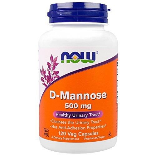 Now Foods I D-Mannose 500mg I 120 vegane Kapseln