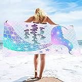 Bonsai Tree Mermaid Beach Towel, Mermaid Tail...