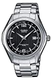 Casio EDIFICE Reloj en caja sólida, 10 BAR, Negro, para Hombre, con Correa de Acero inoxidable, EF-121D-1AVEF