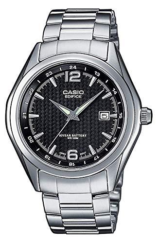 Casio Edifice Herren Massives Edelstahlgehäuse und Edelstahlarmband Uhrenarmband EF-121D-1AVEF