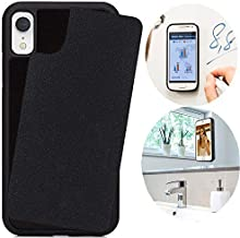 CloudValley Anti Gravity Case for iPhone XR (2018), Phone Cases Magical Nano Can Stick to Smooth Flat Surfaces - Black