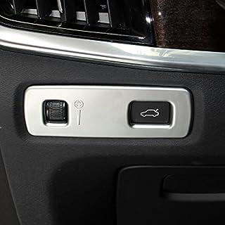 QQKLP Ajuste para el Volvo XC60 2009-2017 Interior Accesorios Aire Acondicionado Cubierta del Enchufe del Ajuste Auto Accesorios de Acero Inoxidable 4 Piezas
