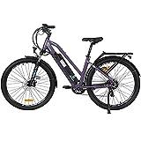 Hyuhome Bicicletas eléctricas para adultos hombres mujeres,27.5' E-bicicletas,250W 36V 12.5Ah, bicicleta E-montaña E-MTB, 7 velocidades Shimano frenos disco dobles para viajeros al aire libre (820 M)