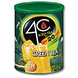 4C Green Tea Antioxidant Iced Tea Mix   Family Sized Cannister   Thirst Quenching Flavor   20 quarts (Green Tea, 1 pack)