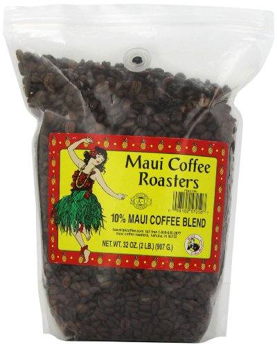Maui Coffee Roasters Whole Bean Coffee Bulk, Maui Blend, 2-Pound