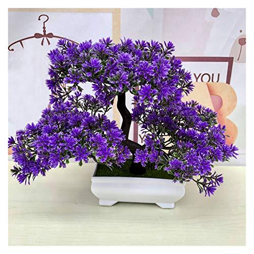 LUCHAO Künstliche Bonsai-Baum einladende Pflanze gefälschte Blume grüne Pflanze Simulation Kiefer Bäume Blume Topf Vase Hochzeit Dekoration (Farbe : 3)