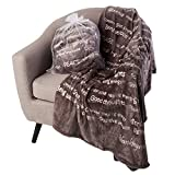 BlankieGram Healing Thoughts Throw Blanket, Healing Blanket with Inspirational Messages for Friends, Family, and Loved Ones, Ultimate Recovery Gift (Grey)