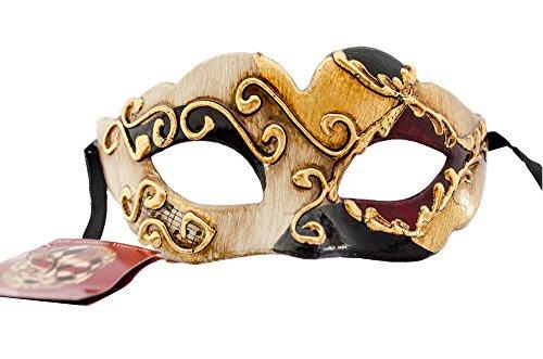 LannaMask Handgefertigte Venezianische Maske Augenmaske Colombina Ballmaske Karneval Fasching Kinder (C02)