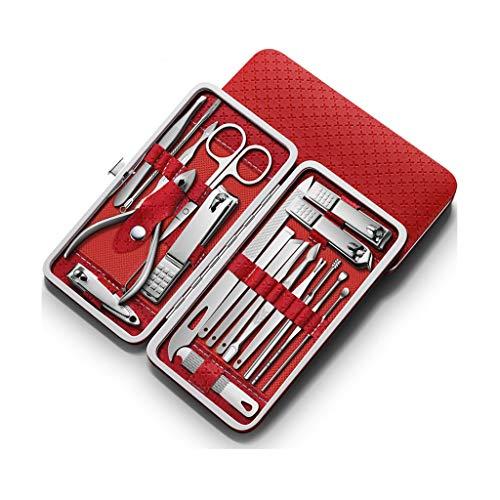 Pince à ongles 16pcs Nail Clippers Set Kit Pédicure en acier inoxydable coupe-ongles Set, ongles professionnels Ciseaux de toilettage Kit manucure, Idéal for les hommes et les femmes, Professionnel en