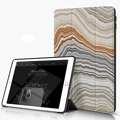 Carcasa para iPad 10.2 Inch, iPad Air 7.ª Generación ,Naranja fibrosa Piedra Rebanada de ónix ancho Banda de mármol Naturaleza Patrón de á,incluye soporte magnético y funda para dormir/despertar