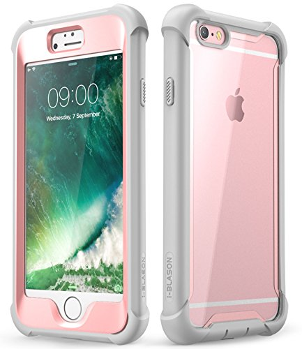 i-Blason Case for iPhone 6s / 6 (4.7 Inch), [Ares] Full-Body Rugged Clear Bumper Case with Built-in Screen Protector (Pink)