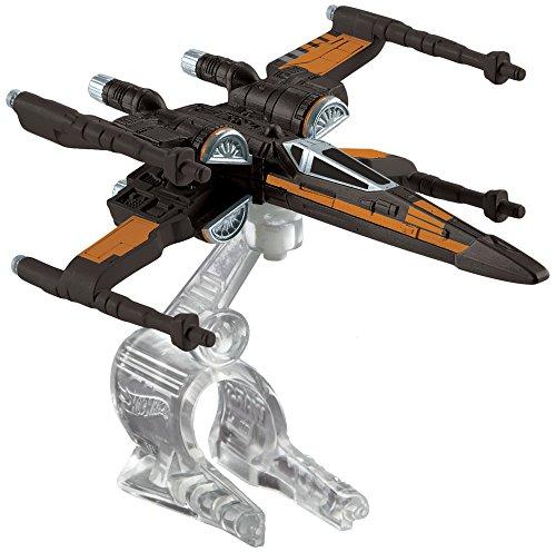 Hot Wheels Star Wars The Force Awakens Starship - Poe's X-Wing Fighter- Noir (Djjj63)