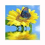 Abellale Badewanne Vorhänge Sonnenblume & Schmetterling Polyester Duschvorhang 180x200 cm