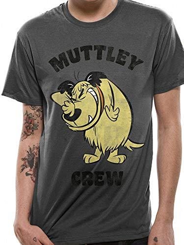 Like Wacky Races Muttley Crew Dastardly Hanna Barbera Cartoon Grey Mens T-Shirt