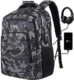Mochila para ordenador portátil, mochila escolar con puerto de carga USB, bolsa de viaje de negocios, resistente al agua, mochila para portátil de 15,6 pulgadas