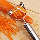 Tzuquzk - julienne peeler - carrot potato fruit peeler durable razor sharp blade zesters grade shredder slicer - made vegetable kitchen papaya germany steel electric stainless titan