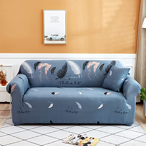 Geometrisches Design Wrapped Sofa Cover Plaid All-Inclusive Möbel Schonbezug L-Style Sofa Case Loveseat Protector Couch Cover A10 2 Sitzer