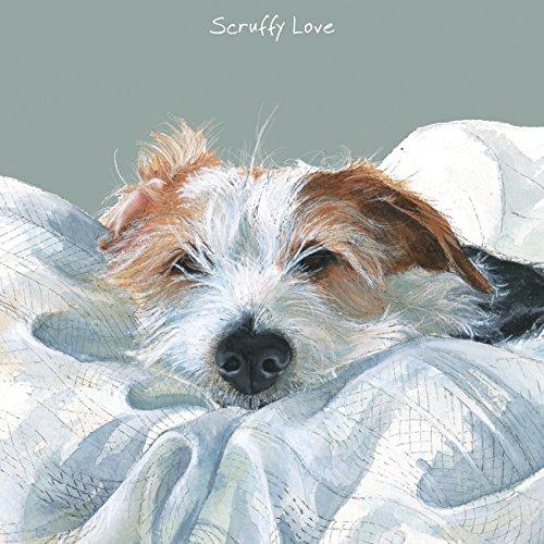 Jack Russell Terrier hond BLANK verjaardagskaart Grappige kaarten voor hondenliefhebbers - SCRUFFY LOVE