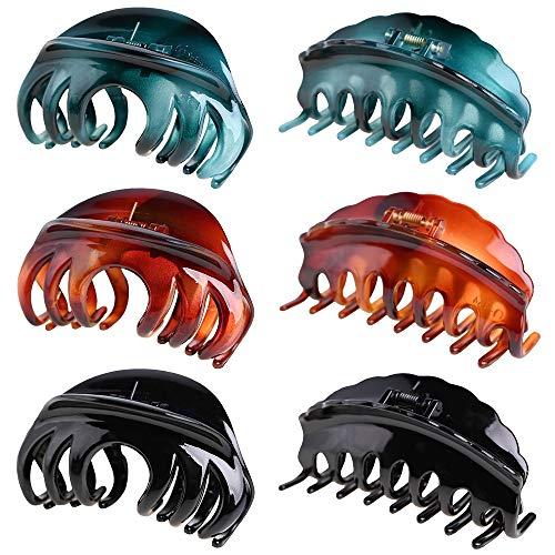 6 pièces pinces à cheveux pinces à cheveux antidérapantes grande pince à cheveux pince à cheveux tenue forte accessoires de cheveux de mode chapeaux pour femmes et filles cheveux épais