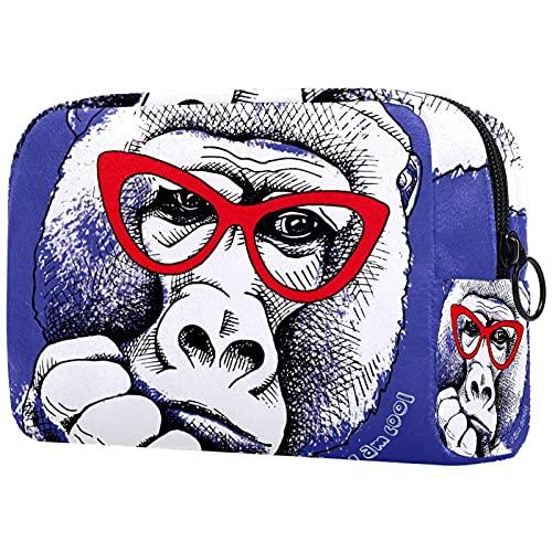 Vrouwen make-up tas,Cosmetische opbergtas grappige Gorila aap Ik ben cool voor reizen,Cosmetica Organizer
