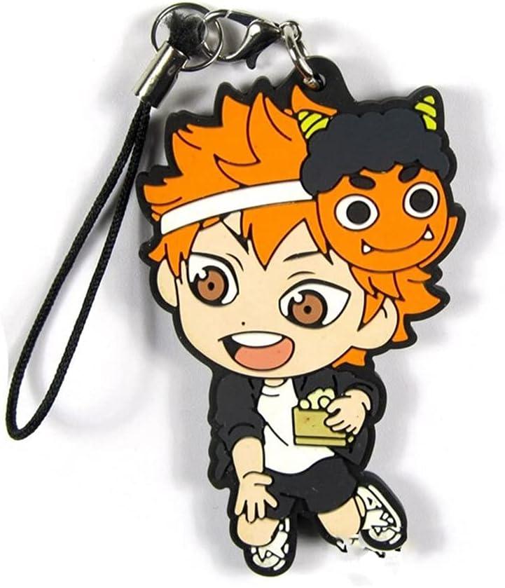 Haikyuu Keychain Hinata Shoyo Rubber Haikyuu Anime Volleyball Boy Keyring Accessories Pendant Collection Gift Fans 02