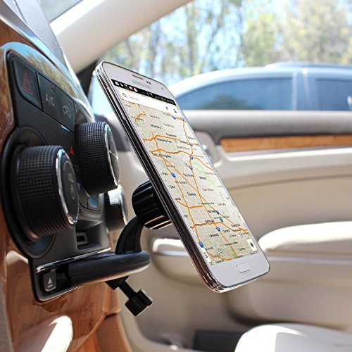 Quick Snap Super Strong Magnetic CD Slot Phone Holder in your Car or Truck fits T Mobile Alcatel RevvL