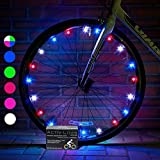 Activ Life Bike Lights (1 Wheel, Patriotic) Red White and Blue Decorations for Bikes Best Son Daughter Grandson Granddaughter Niece Nephew Memorial Day Lights Decoration and 4th of July Decorations