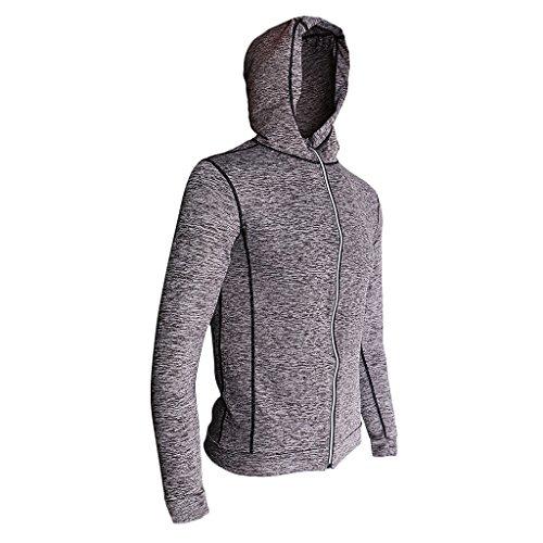 Gazechimp Sweatshirt Sports Homme Zippé Courses Yoga Entraînement - gris, M