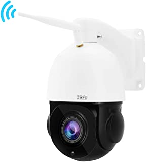 PTZ WiFi Security Camera 1080P 20X Optical Zoom Smart 265 High Speed IP Camera Built-in SD Card Slot Outdoor with Night Vision for Security Surveillance