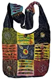 Bohemian'Quilted Torn Look' Razor Cut Hippie Crossbody Sling Purse Boho Handbag
