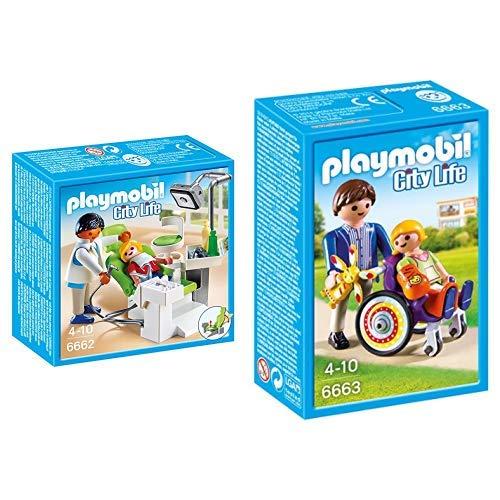 Playmobil 6662 - Zahnarzt &  6663 - Kind im Rollstuhl